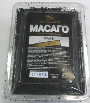 Икра  Масаго  Сифудлайн Люкс черная   375 руб