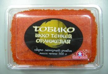 Икра летучей рыбы  (Беларусь) Тобико ИККО  зеленая, оранж, красная, чёрная    800 руб